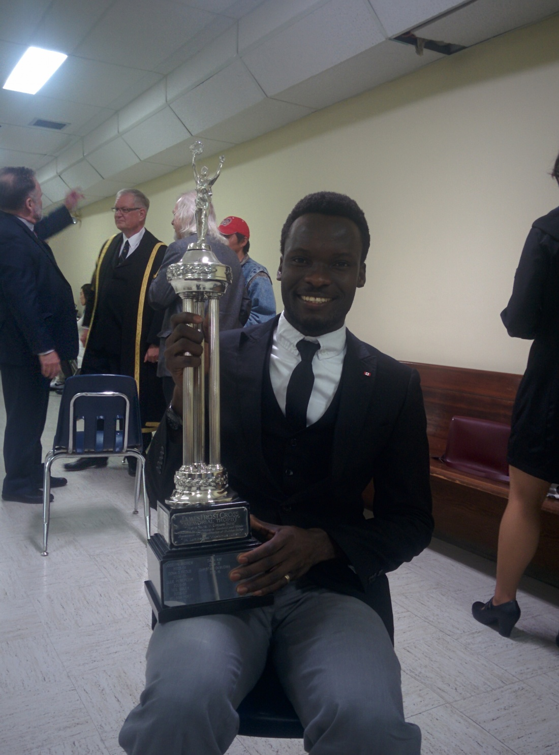 CHRISTIAN WITH THE TROPHY